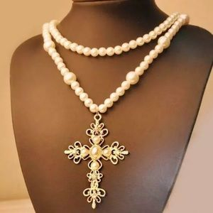 NWT Betsey Johnson cross necklace